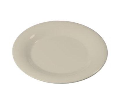 """Carlisle 3301042 10-1/2"""" Sierrus Dinner Plate - Wide Rim, Melamine, Bone"""