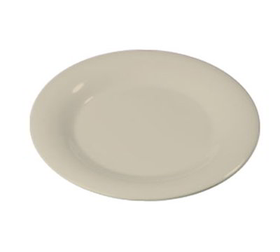"Carlisle 3301642 7-1/4"" Sierrus Salad Plate - Wide Rim, Melamine, Bone"
