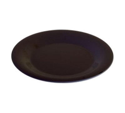 """Carlisle 3301803 6-1/2"""" Sierrus Pie Plate - Wide Rim, Melamine, Black"""