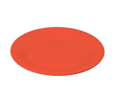 "Carlisle 3301852 6-1/2"" Sierrus Pie Plate - Wide Rim, Melamine, Sunset Orange"