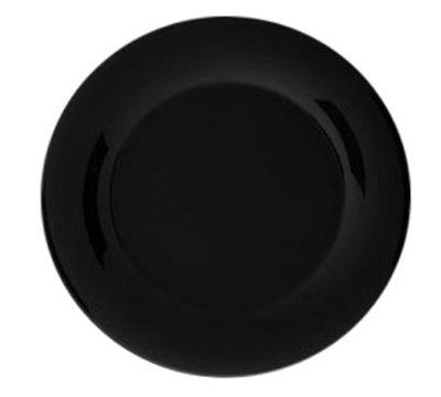 """Carlisle 3302403 12"""" Sierrus Dinner Plate - Wide Rim, Melamine, Black"""