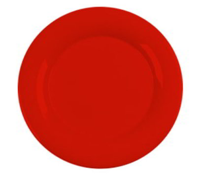 "Carlisle 3302405 12"" Sierrus Dinner Plate - Wide Rim, Melamine, Red"