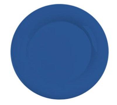 """Carlisle 3302414 12"""" Sierrus Dinner Plate - Wide Rim, Melamine, Ocean Blue"""