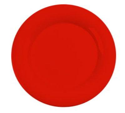 "Carlisle 3302452 12"" Sierrus Dinner Plate - Wide Rim, Melamine, Sunset Orange"