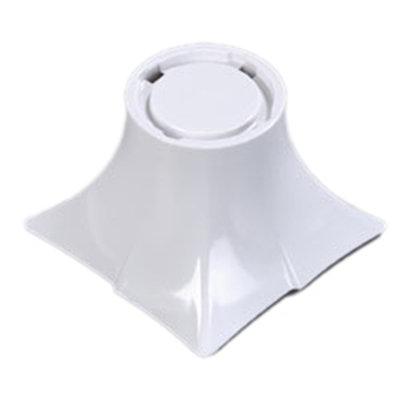 "Carlisle 3330202 4"" Rave Display Pedestal - Melamine, White"