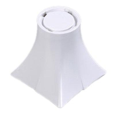 """Carlisle 3330402 6"""" Rave Pedestal - Melamine, White"""