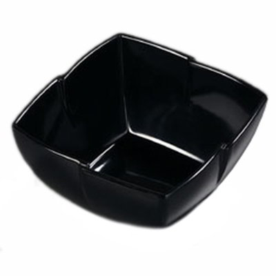 Carlisle 3331003 1-1/2-qt Rave Square Serving Bowl - Melamine, Black