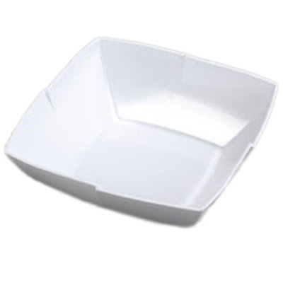 "Carlisle 3331402 12"" Rave Square Serving Bowl - Melamine, White"