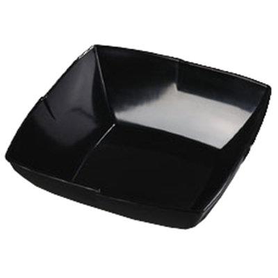 """Carlisle 3331403 12"""" Rave Square Serving Bowl - Melamine, Black"""