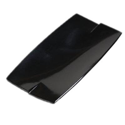 "Carlisle 3332003 Rectangular Rave Platter - 10x5"" Melamine, Black"