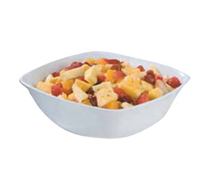 Carlisle 3336202 8-qt Square Flared Bowl - Melamine, White