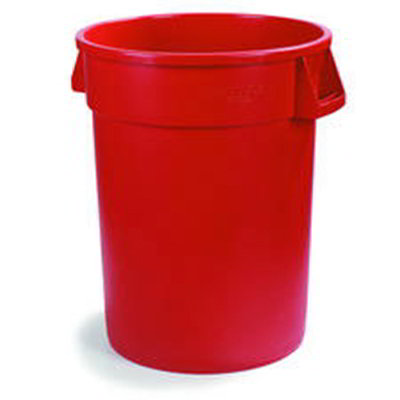 Carlisle 34101005 10-gal Waste Container - Polyethylene, Red