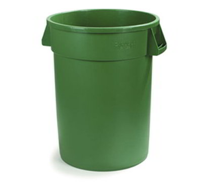 Carlisle 34105509 55-gal Round Waste Container - Handles, Polyethylene, Green