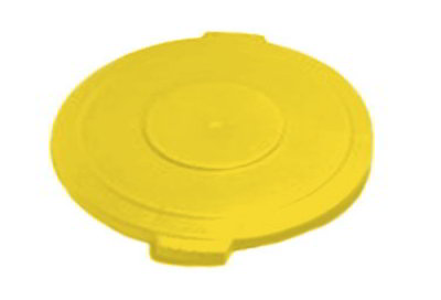 Carlisle 34101104 Round Waste Lid for 10-gal Containers - Polyethylene, Yellow