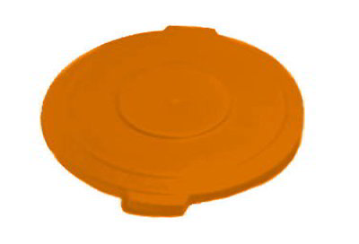Carlisle 341011-24 10-gal Round Waste Container Lid - Polyethylene, Orange