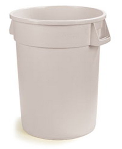 Carlisle 34103202 32-gal Round Waste Container - Polyethylene, White