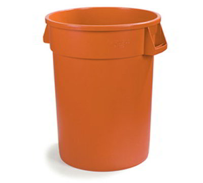 Carlisle 341020-24 20-gal Round Waste Container - Polyethylene, Orange