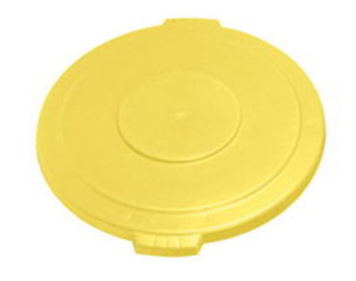 Carlisle 34103304 32-gal Round Waste Container Lid - Polyethylene, Yellow