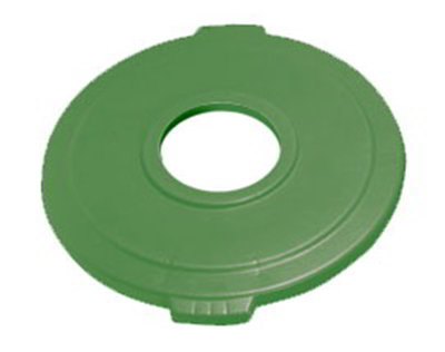 "Carlisle 341033REC09 32-gal Waste Container Round Lid - 8"" Hole, Green"