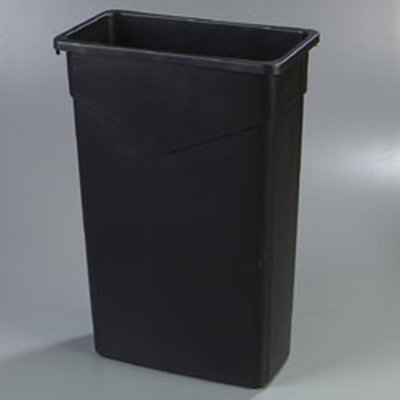 Carlisle 342015-23 15-gal Rectangular Waste Container - Polyethylene, Gray