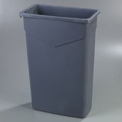 Carlisle 34202323 23-gal Rectangular Waste Container - Polyethylene, Gray