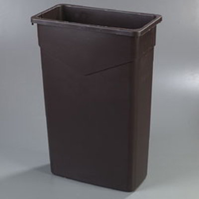 Carlisle 34202369 23-gal Rectangular Waste Container - Polyethylene, Brown