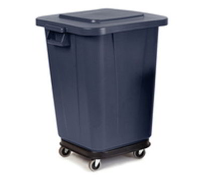 Carlisle 341542-03 28/40-gal Square Waste Container Dolly - Polycarbonate, Black