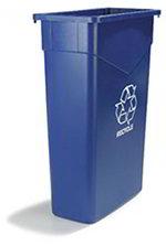 Carlisle 342023REC14 23-gal Rectangular Recycle/Waste Container - Polyethylene, Blue