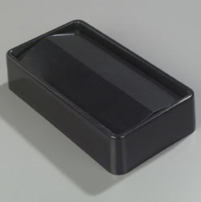 Carlisle 34202403 15/23-gal Rectangular Swing Top Lid - Polyethylene, Black