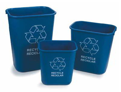 Carlisle 342913REC14 13-qt Recycle Wastebasket - Polypropylene, Blue