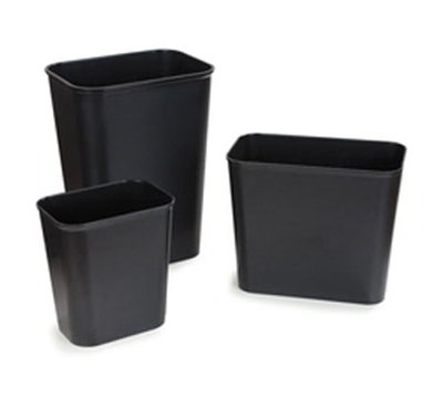 Carlisle 342915-03 14-qt Rectangular Wastebasket - Black