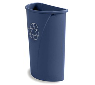 Carlisle 343021REC-14 21-gal Half-Round Recycle Container - Polyethylene, Blue