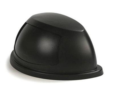 Carlisle 343022-03 21-gal Waste Container Dome Lid - Swing Flap Door, Polyethylene, Black