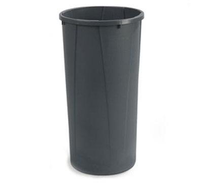 Carlisle 343122-23 22-gal Round Waste Container - Handles, Polyethylene, Gray
