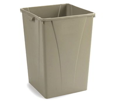 Carlisle 343950-06 50-gal Square Waste Container - Polyethylene, Beige