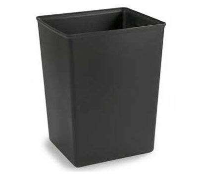 Carlisle 344042-03 42-gal Square Waste Container Rigid Liner - Polyethylene, Black