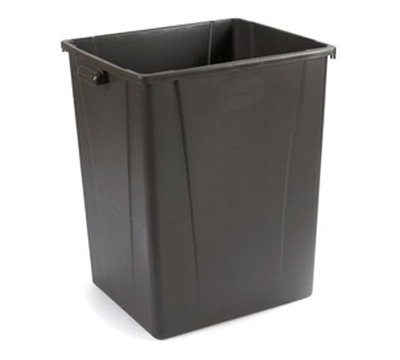 Carlisle 344056-69 56-gal Square Waste Container - Polyethylene, Brown