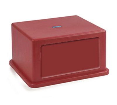 Carlisle 344058-05 56-gal Square Waste Container Hood Lid - Flap Doors, Polyethylene, Red
