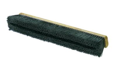 "Carlisle 360241803 18"" Floor Sweep - Medium, Hardwood Block, 3"" Black Horsehair/Poly Bristles"