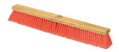 "Carlisle 3610223624 36"" Floor Sweep - Fine/Medium Block, Hardwood Block, 3"" Orange Poly Bristles"