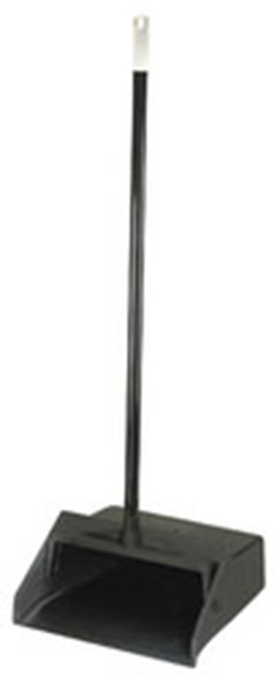 "Carlisle 36141003-1 12"" Duo-Pan Lobby Dust Pan - Metal Handle, Black"