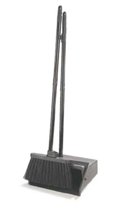 "Carlisle 36141503 30"" Lobby Dust Pan Combo - Broom Handle Clip, Black"