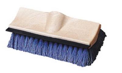 "Carlisle 3619014 10"" Dual Surface Floor Scrub Brush Head - Squeegee, Poly/Plastic, Blue"