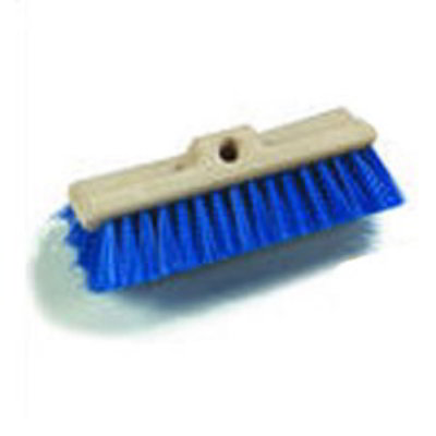 Carlisle 361933PPL00 Deck Scrub Brush, No Handle, 10-in w/ Crimped Bristles, Cream/Blue