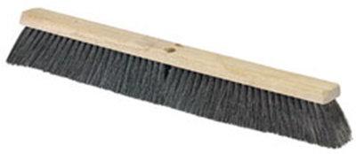 "Carlisle 36202403 24"" Floor Sweep - Fine/Medium, Hardwood Block, 3"" Horsehair/Poly Bristles"