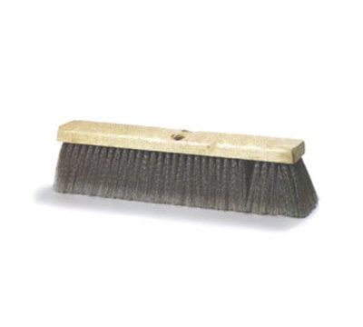 "Carlisle 3621951823 18"" Basic Sweep Floor Brush - Palmyra/Tampico, Gray"