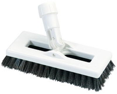 "Carlisle 3621966300 8"" Swivel Scrub Floor Brush with Handle - Poly/Pl"