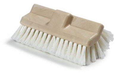 "Carlisle 362199700 10"" Flo-Thru Vehicle Brush - Poly, White"