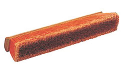 "Carlisle 36222424 24"" Floor Sweep - Fine/Medium, Hardwood Block, Orange Poly Bristles"