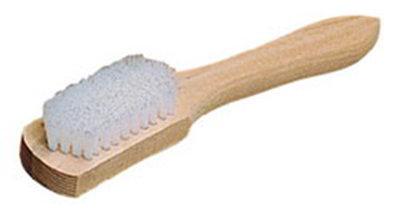"""Carlisle 36257WN00 10"""" Carpet Spot Brush - Nylon/Wood, White"""